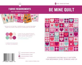 PDF Be Mine Quilt Pattern