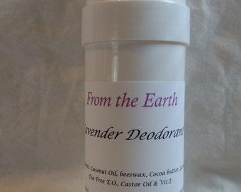 Deodorant-Organic, Long lasting, Natural odor control, Organic Tea Tree & Lavender Essential Oils, For Men and Women, Anti-bacterial