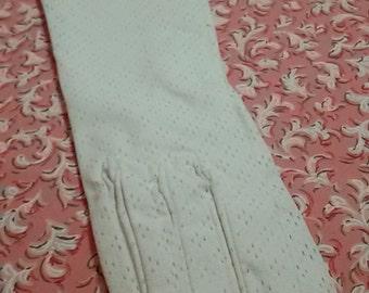 Vintage French / white ceremony gloves white gloves /Vintage / new old Stock