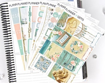 Beach House Deluxe Weekly Planner Kit | 250+ Stickers | Planner Stickers | For Erin Condren LifePlanner