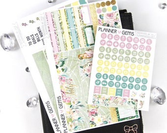 Enchanted July Monthly B6 TN Planner Kit | ~100 Stickers | Planner Stickers | For Erin Condren LifePlanner