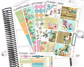 Paradise Essential Weekly Planner Kit | 150+ Stickers | Planner Stickers | For Erin Condren LifePlanner