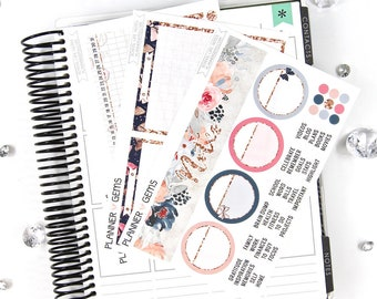 School Life Monthly Notes Page Planner Kit | ~100 Stickers | Planner Stickers | For Erin Condren LifePlanner