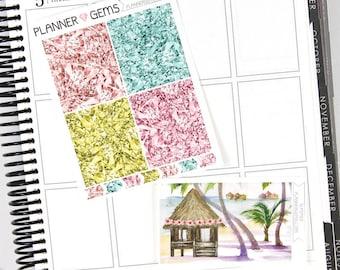 Summer Gem Header Stickers & Double Box Bundle | 36 Stickers | Planner Stickers | For Erin Condren LifePlanner