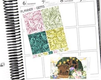 Enchanted Gem Header Stickers & Double Box Bundle | 36 Stickers | Planner Stickers | For Erin Condren LifePlanner