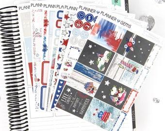 Independence Deluxe Weekly Planner Kit | 250+ Stickers | Planner Stickers | For Erin Condren LifePlanner