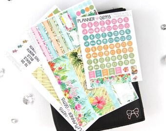 Paradise August Monthly B6 TN Planner Kit | ~100 Stickers | Planner Stickers | For Erin Condren LifePlanner