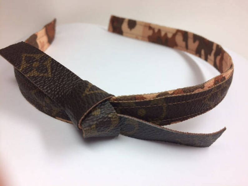 Louis Vuitton Hair LV Headband Vuitton Upcycled  8b7fd0c3aeb