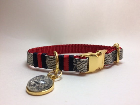 Gucci Dog Collar and Leash, Collar with Ribbon, Gucci Upcycle, Sizes mini,  xsmall, small, medium, large, x,large, ONLY AUTHENTIC Gucci