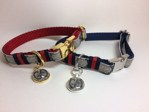 Gucci Dog Collar and Leash 160, Collar 65, Leash 100 Gucci Upcycle, Sizes  mini, xsmall, small, medium, large, x,large, ONLY AUTHENTIC Gucci