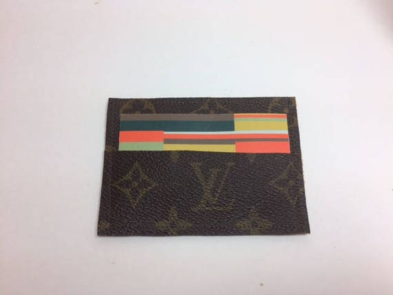 Louis vuitton business card holder mini wallet upcycled lv etsy image 0 colourmoves