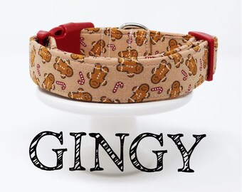 Gingy | Gingerbread Man Inspired Dog Collar
