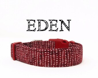 Eden | Dark Red with white specks Dog Collar