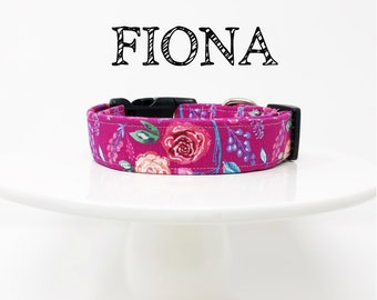 Fiona | Floral Inspired Dog Collar