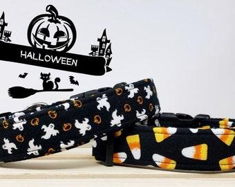 Halloween Inspired Pet Collars | Boo Collar  | Candy Corn Collar