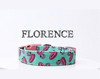Flamingo Pool Float Dog Collar