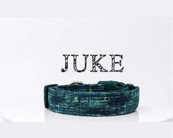 Modern Dog Collar | Green Abstract Collar