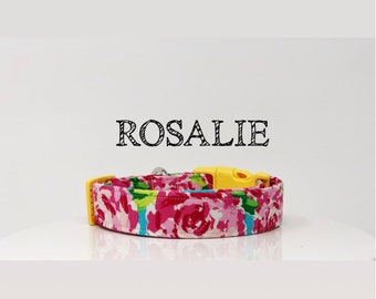 Lilly Pulitzer Inspired Dog Collar, Handmade