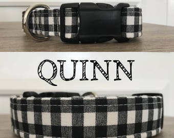 Quinn - Black and White Gingham Inspired Collar
