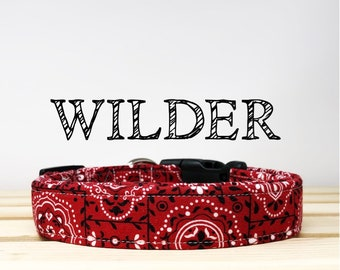 Red Bandana Inspired Dog Collar | Wilder