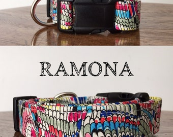 Ramona - Multi Color Abstract Inspired Handmade Collar