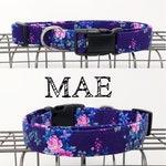 Mae | Purple Floral Dog Collar