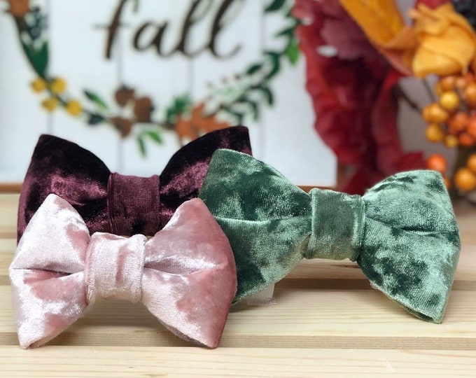 Featured listing image: Velour Bow Tie | Velour Scrunchies
