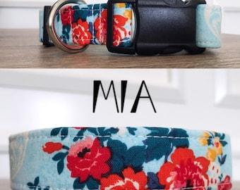 Mia   Floral Print Handmade Collar