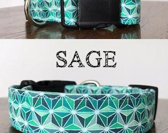 Sage - Geometrical Inspired Handmade Collar