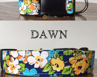 Dawn   Floral Print Handmade Collar