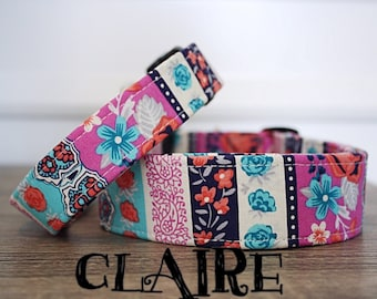 Claire - Beautiful Floral Print Handmade Collar