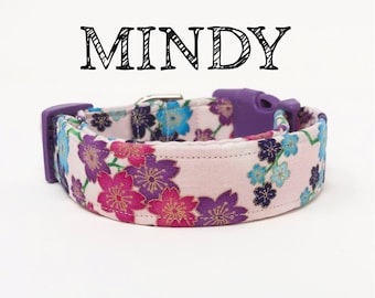 Mindy | Floral Dog Collar in Pink