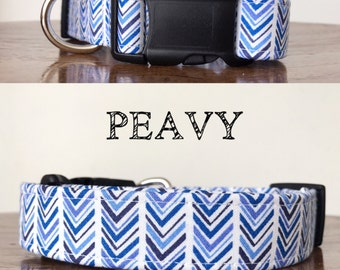 Peavy - Chevron Inspired Handmade Collar