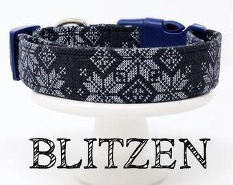 Blitzen | Sweater Print Inspired Dog Collar