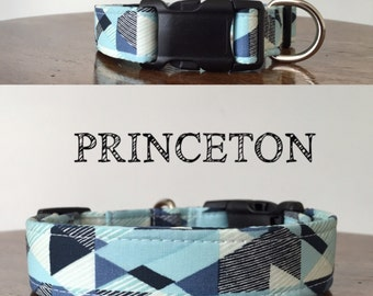 Princeton | Abstract Handmade Collar, In many shades of Blues