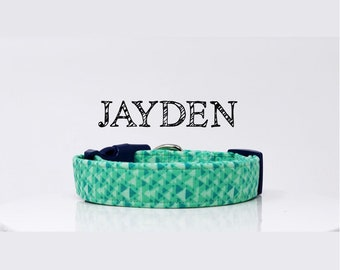 Green Abstract Inspired Dog Collar