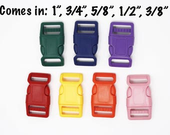 """Colored Buckles Add-on   Sizes: 1"""", 3/4"""", 5/8"""", 1/2"""", 3/8"""""""