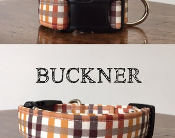Buckner | Gingham Fall Inspired Handmade Collar