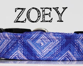 Zoey - Purple and Pink Abstract Handmade Collar