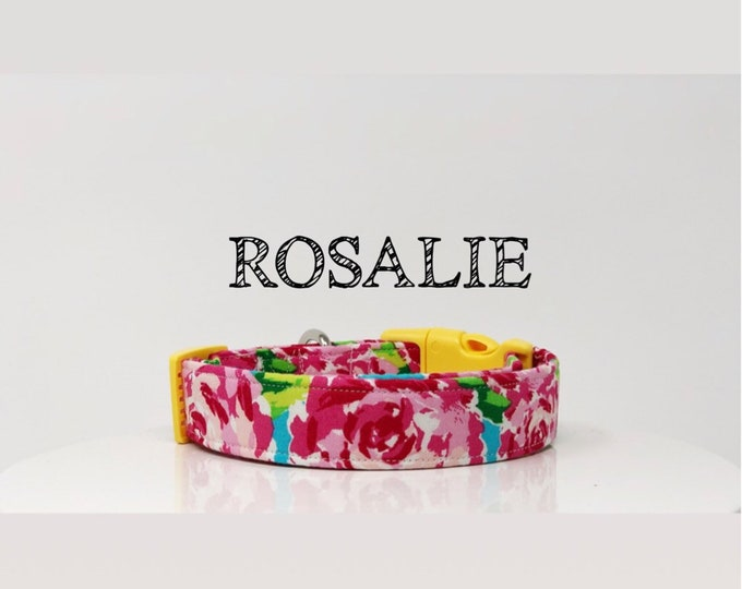 Featured listing image: Lilly Pulitzer Inspired Dog Collar, Handmade