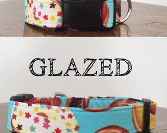 Glazed   Donut Print Handmade Collar