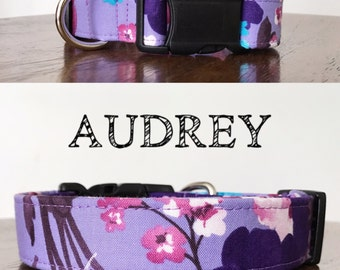 Audrey - Floral Inspired Handmade Collar | Colors: Purples and Pinks