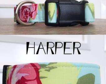 Harper | Rose Print Handmade Collar
