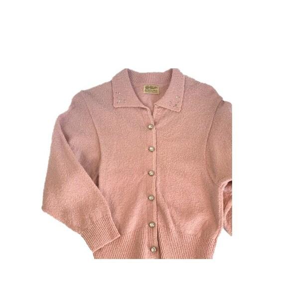 Vintage Victor Knitting Mills Pink Rhinestone Butt