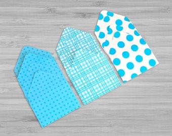 Small Envelopes - Gift Card Envelopes - Mini Envelopes - Set of 12 - Business Card Envelopes - Blue Envelopes - Money Envelopes