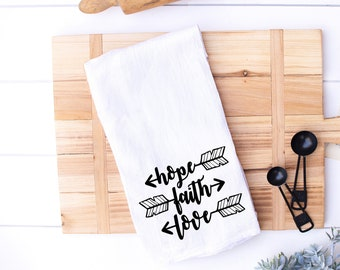 White Go Get Em Tiger Sweet Housewarming Gift Flour Sack Dish Towel Funny Kitchen Towel