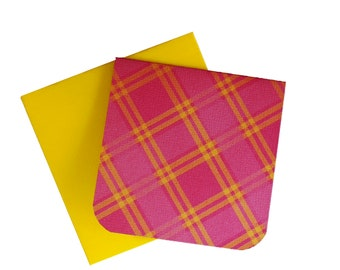 Small Note Cards and Envelopes - 3x3 Blank Mini Cards - Yellow Envelopes - Red Cards - Thank You - Stationery Cards - Gift Tags - Love Notes
