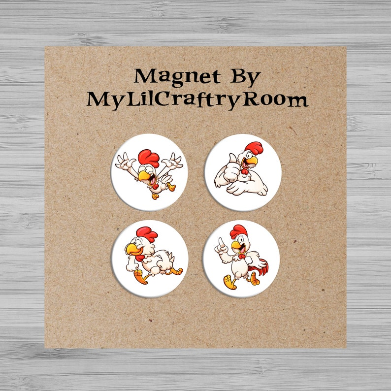 Refrigerator Magnets Unique Gift Kitchen Decor Chicken Button Magnets Fridge Magnets 1 Inch  Magnets Cute Button Magnets