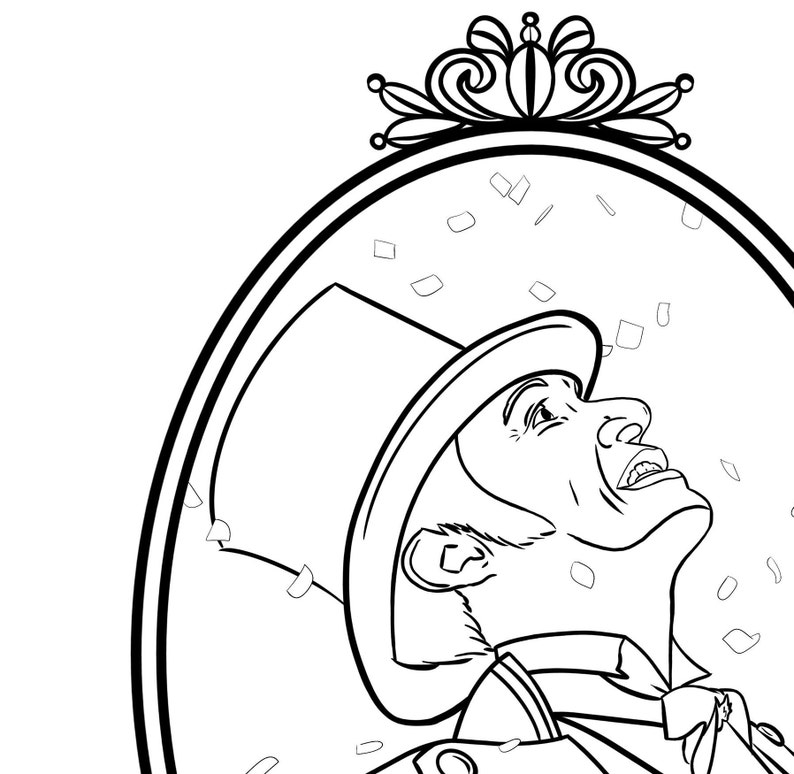 the greatest showman coloring pages | Digital The Greatest Showman Printable Coloring Sheet | Etsy