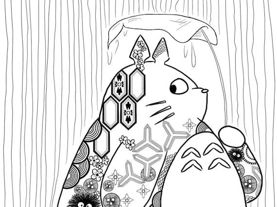 Dessin De Totoro A Colorier   BlageusFree